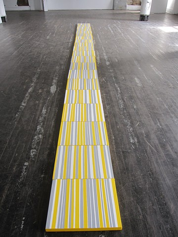 Yellow, Grey, White Line