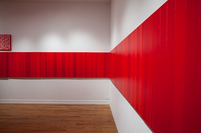 Stillness In Red Horizontal Line