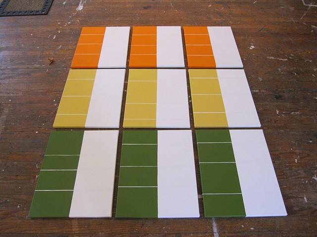 Breathe Series in a Grid on Floor, Gallery Image