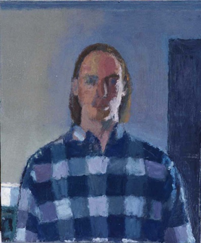 Self Portrait in Blue Plaid