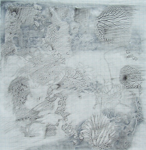 Topographical Map of the Artist's Studio Floor-Art Theory and Pencil Shavings