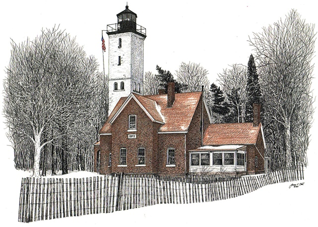 The Presque Isle Lighthouse, Erie, PA USA color version