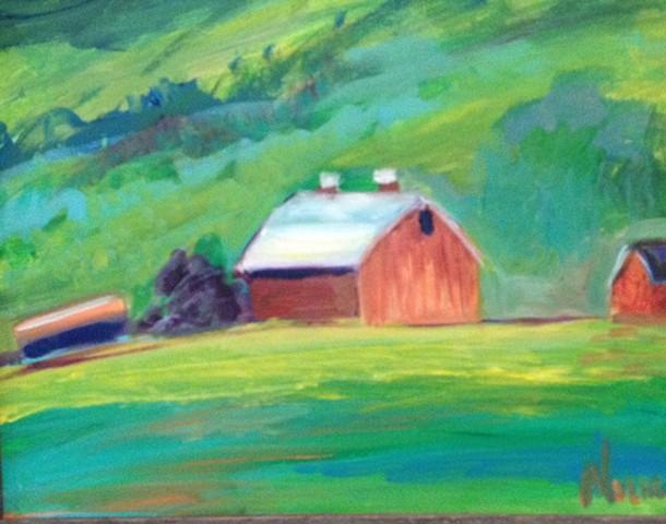 Framed in barn wood.