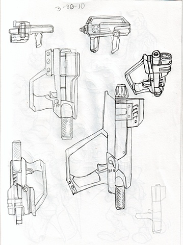 Compressed Air Gun Sketches