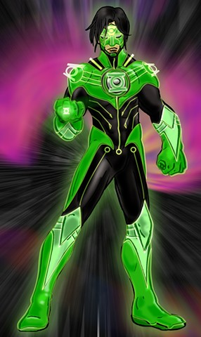 PR:Redesign-Green Lantern Kyle Rayner:Hard Light Construct Armor Mode