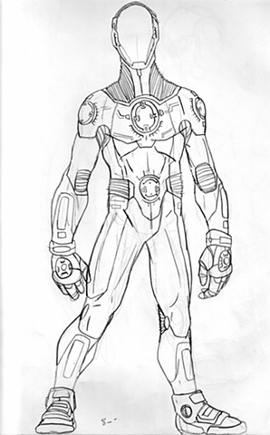 Tech Suit Drawing