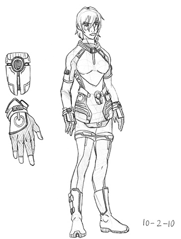 Nurse Lilleth Concept Drawing