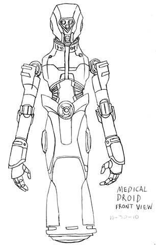 Medical Droid Front Drawing