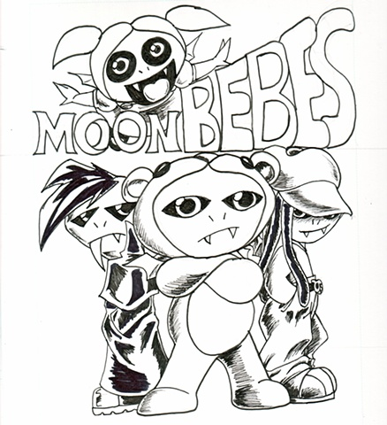 24 Hour Comic: MoonBebe's Cover Art