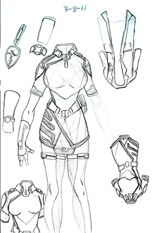 Nurse Lilleth Outfit refinement- Sketch