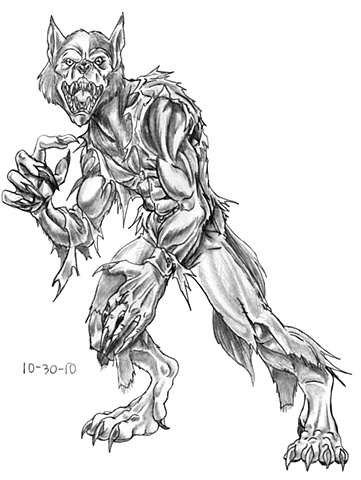 Wolfman the werewolf