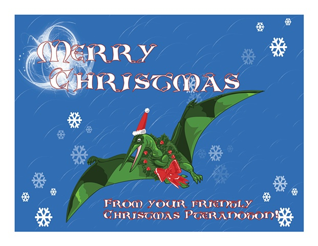 Holiday Christmas Card for the dinosaur fan in all of us
