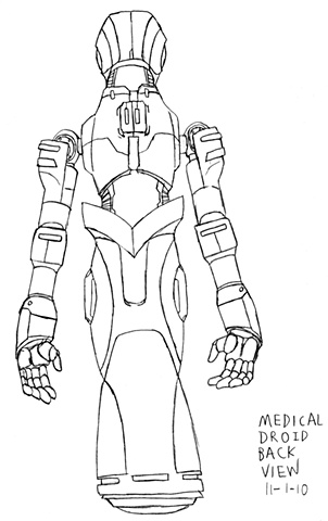 Medical Droid Back Drawing