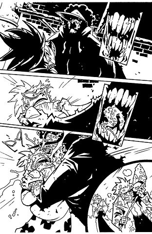 Page from the collegiate-zombie romp, Everybody's DEAD / client - IDW Publishing
