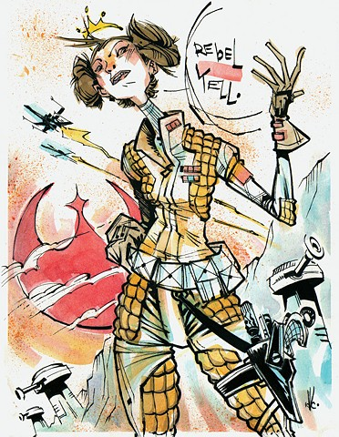 Princess Leia / Rebel Yell