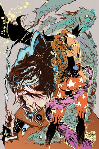 Limited edition giclee art print / collaboration with illustrator Jim Mahfood