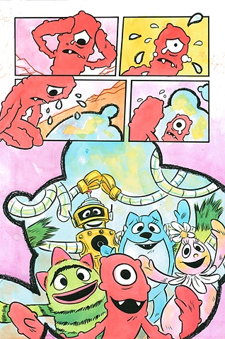 Page from collection of Yo Gabba Gabba! short stories / client - Oni Press