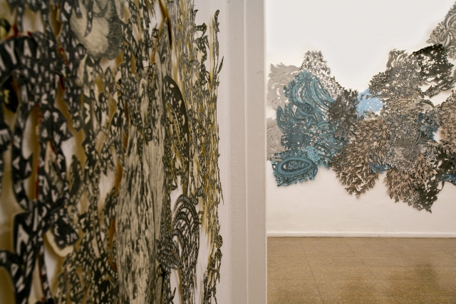 Installation View of Octopus Words and Water Fable