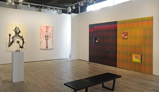 Ctrl+P installation view (l-r):  Katchadourian, Day, Jungil Hong