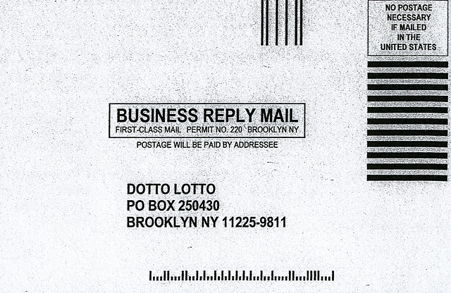 DOTTO LOTTO Postcard Back