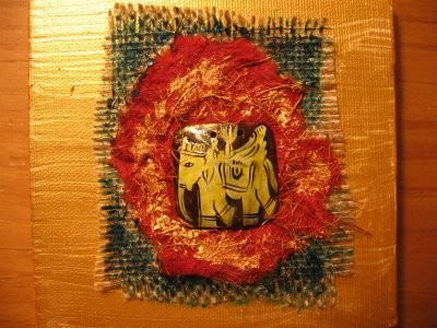 Elephant Mixed Media Card