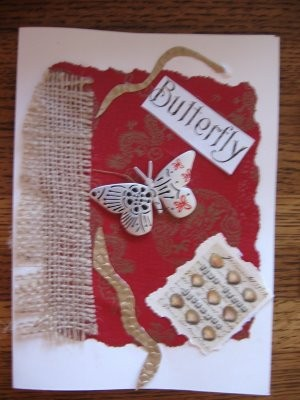 Butterfly Mixed Media Greeting Card