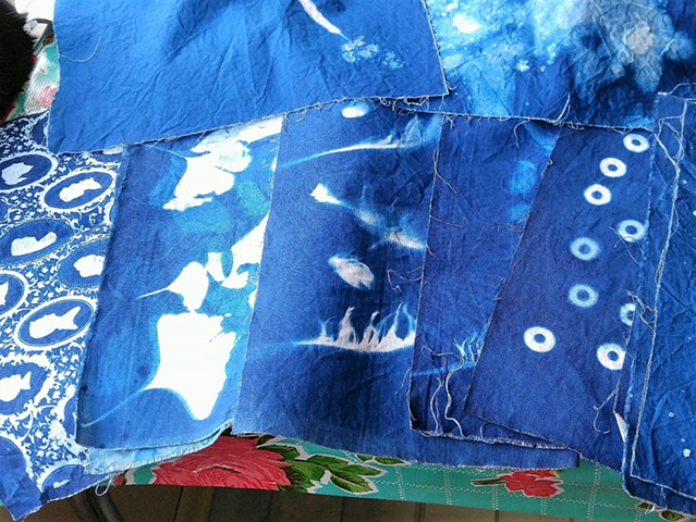 Cyanotype on Fabric & Handmade Journals Workshop - Silly Dog Studions