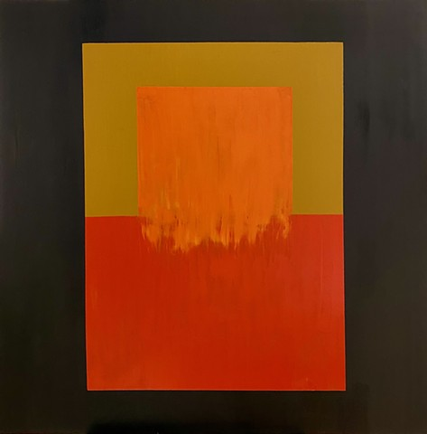 Abstract(olive, red, orange, ochre)