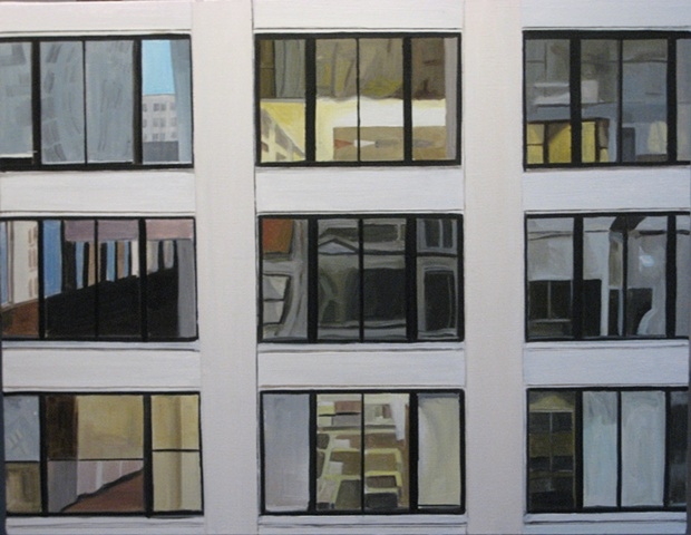 Oil Painting of Chicago Building on State St. [SOLD}
