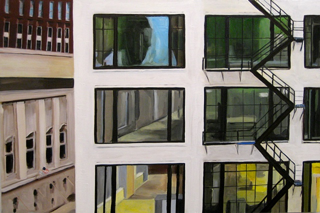 Oil Painting of Chicago Building on Wabash St. [SOLD}