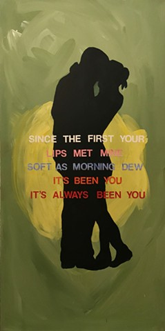 graphic, lyric paintings