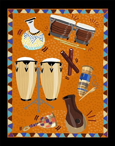 Drum Circle Illustration