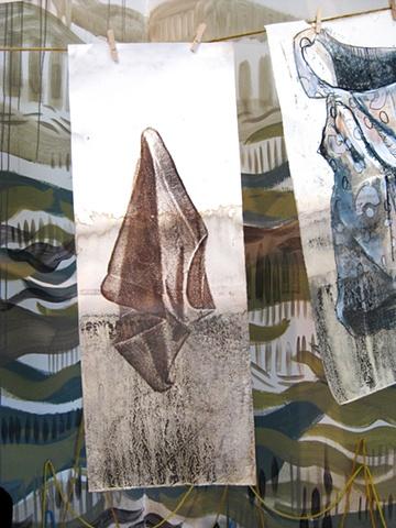 Detail of flood clothesline