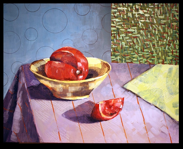 Tomato Wedge and Yellow Bowl