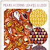 Pears Acorns Leaves & Logs (Click on image to zoom)