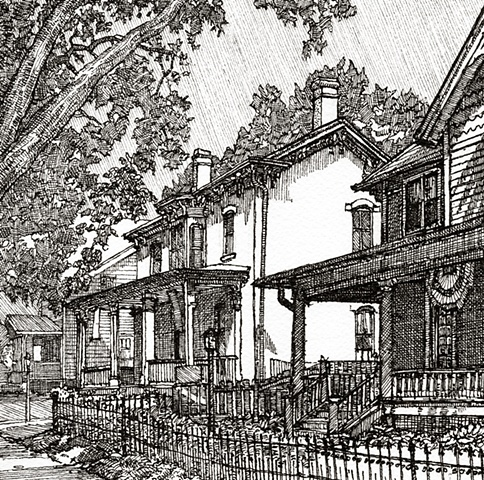 iowa city, drawing, jefferson street