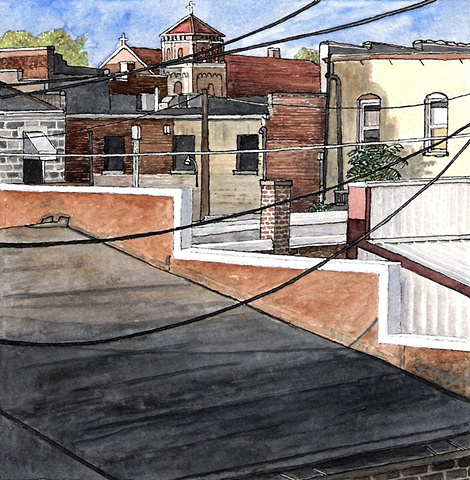 Grinnell Watercolor by John Martinek
