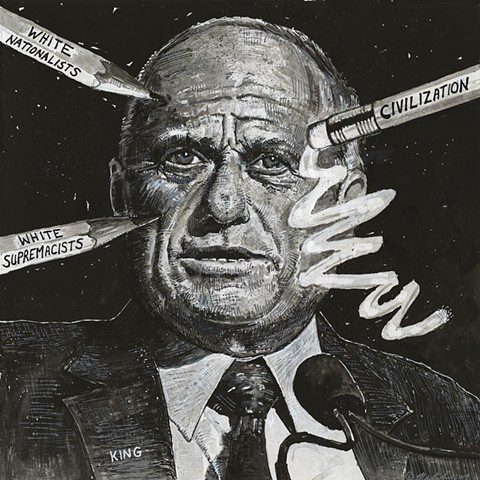John Martinek editorial cartoon Steve King