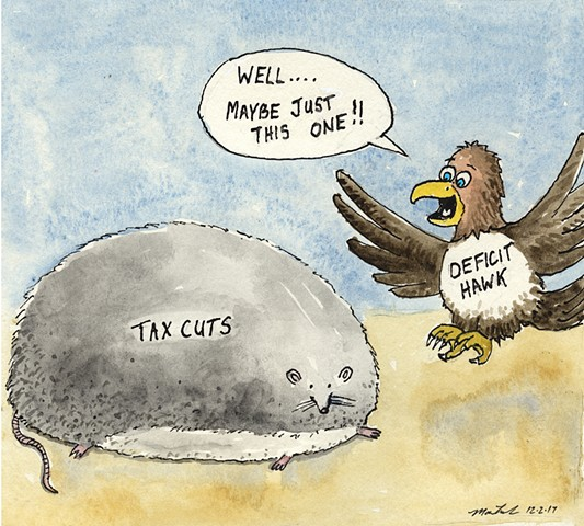 John Martinek editorial cartoon tax cuts