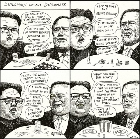 John Martinek editorial cartoon north korea