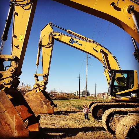 With Emmett Examining the Excavators