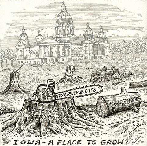 Iowa a place to grow John Martinek editorial cartoon