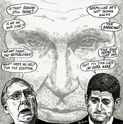 John Martinek editorial cartoon Mitch McConnell Paul Ryan
