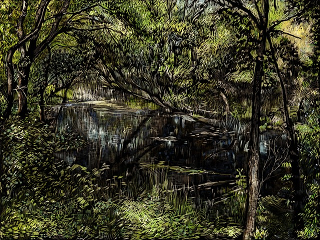 john martinek Pen and Ink landscape nature