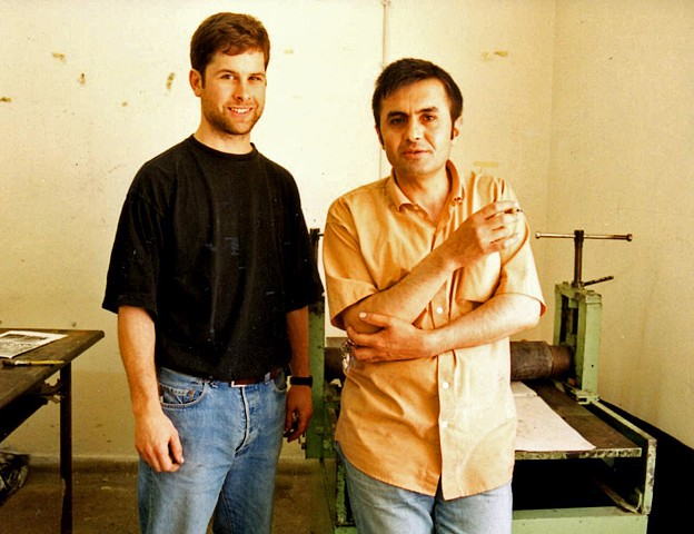 With Turkish Colleague Mahmut Durmus - 1997