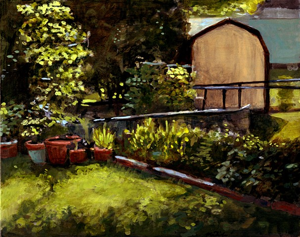 Garden painting in coralville, Iowa.  John Martinek