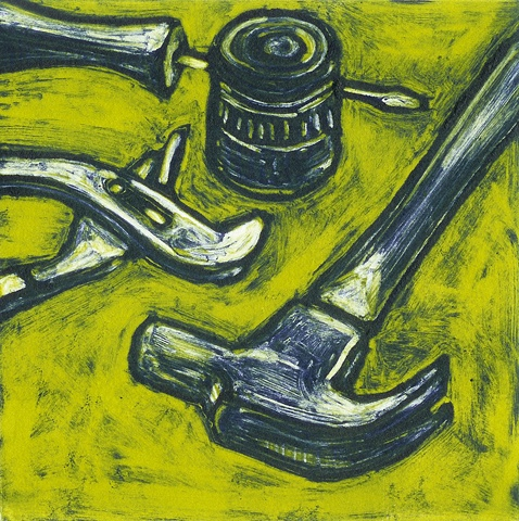 john martinek still life monotype