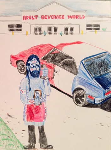 Chris Kerr, Neo Country, drawing, contemporary art, Chicago