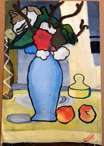 E Maki My Interpretation Of The Blue Vase By Paul Cezanne