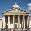 "The Panthéon (Latin: Pantheon,[1] from Greek Pantheon, meaning ""Every god"")-  Latin Quarter. Paris, France."